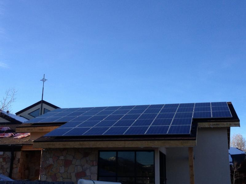 Solar panels on a new addition to Shepherd of the Mountains Lutheran Church in Park City, UT