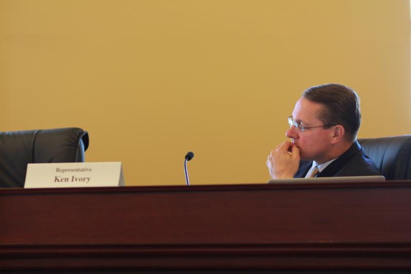 Rep. Ken Ivory, R-West Jordan, listens during a Commission on Federalism meeting