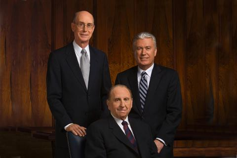 The First Presidency of the Church of Jesus Christ of Latter-day Saints:  Henry B. Eyring, Thomas S. Monson and Dieter F. Uchtdorf