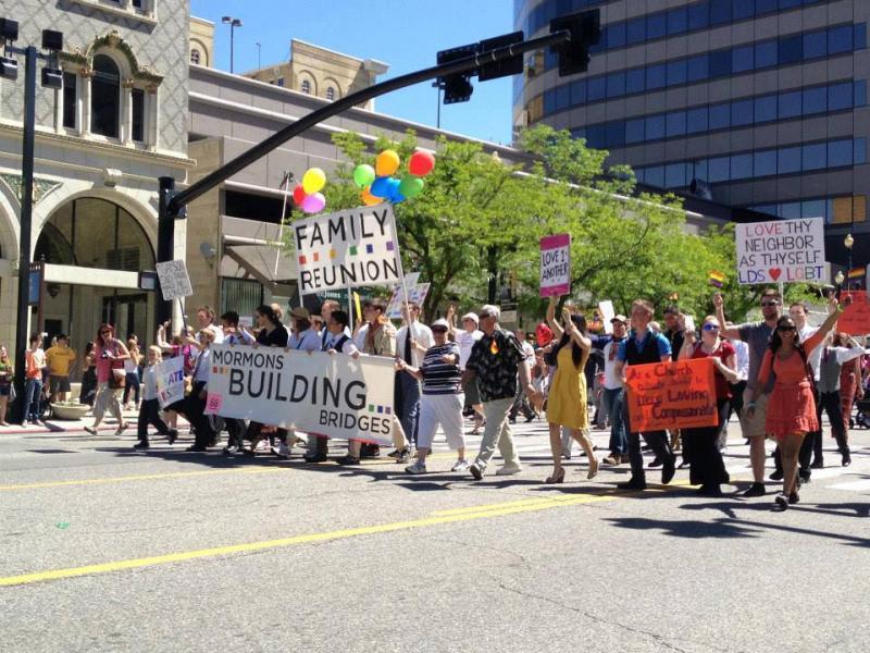 Mormons Building Bridges March in Salt Lake City's 2013 Pride Parade
