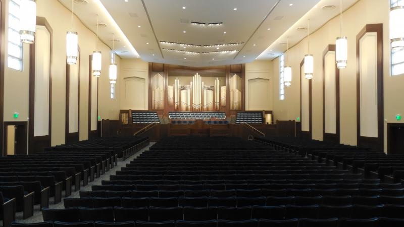 The Ogden LDS Tabernacle was also renovated as part of the project.