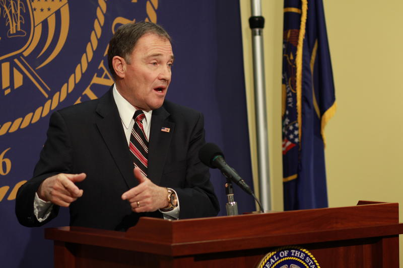 File: Gov. Gary Herbert outlines his Healthy Utah Plan at the State Capitol