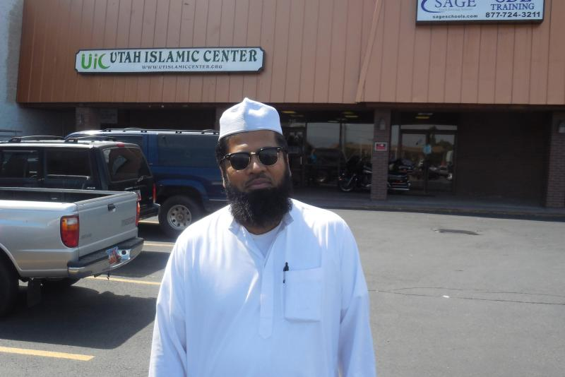 Imam Shuaib Din at the Utah Islamic Center