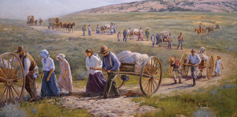 Records of the Mormon pioneer handcart companies are included in the Overland Travel database