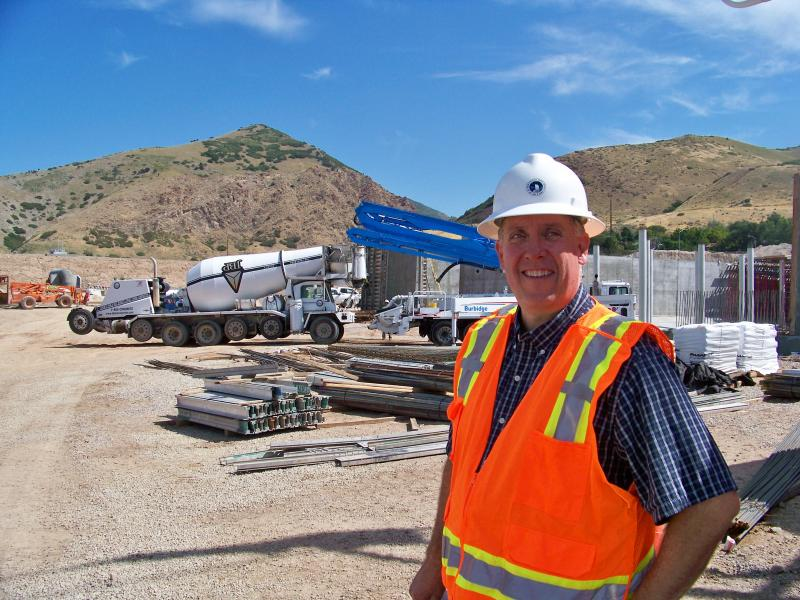 Mike Wilson, General Manager of the Salt Lake and Sandy Metropolitan water district at the Terminal Reservoir project site.