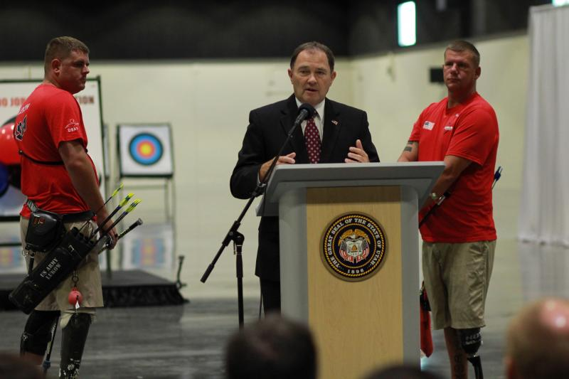 Gov. Gary Herbert announces that Utah created 112,200 jobs in the last 1000 days.
