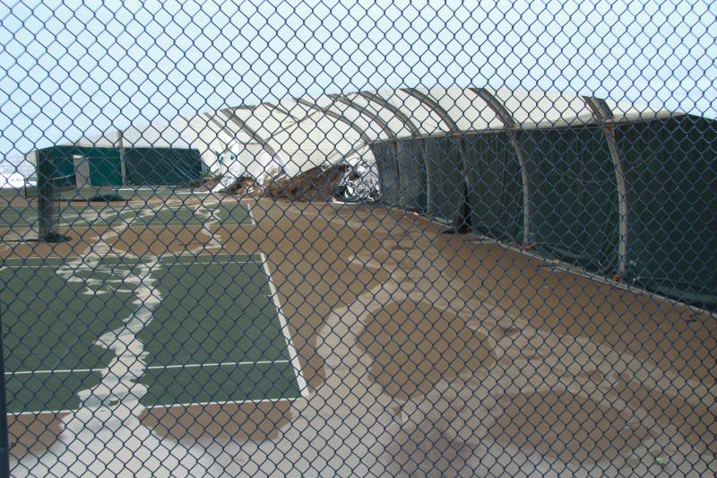 The tennis courts at the Eagleridge Tennis and Swim Club in North Salt Lake