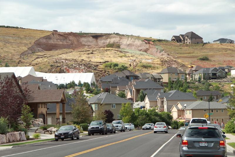 A landslide in North Salt Lake destroys a house.