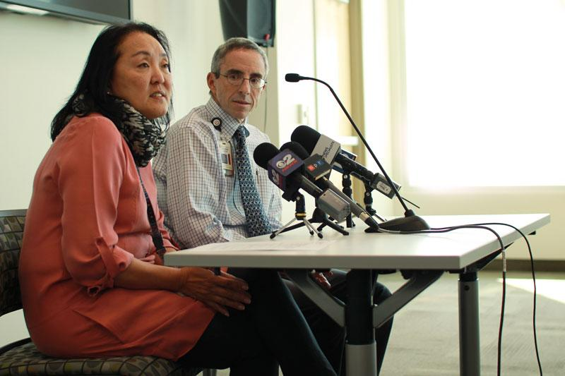 Dr. Allyn Nakashima, State Epidemiologist, Utah Department of Health and Dr. Andrew Pavia, Chief of Pediatric Infectious Diseases at Primary Children's Medical Center