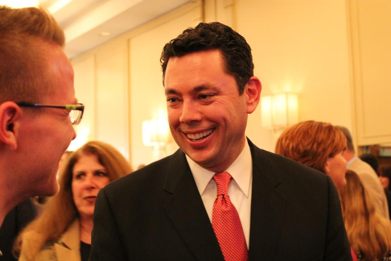 Congressman Jason Chaffetz meets with supporters during the 2014 mid-term election.