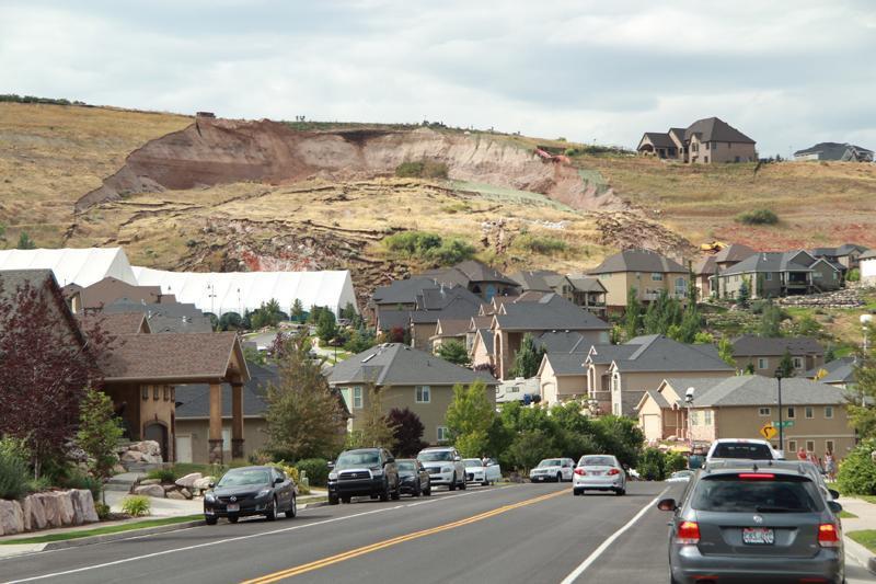 A landslide destroys a home in North Salt Lake