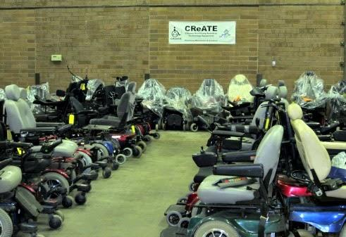 The CReATE program recycles old power wheelchairs and parts to create new ones