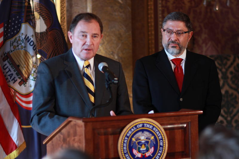 Utah Governor Gary Herbert introduces Judge Deno Himonas as his selection for the Utah Supreme Court