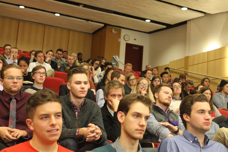 University of Utah students participate in Beta Theta Pi's sexual assault prevention forum.