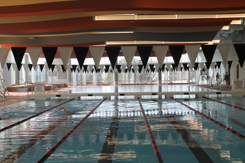 The Student Life Center's new 6 lane, 50 meter pool.