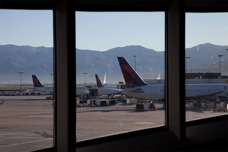 View east from current SLC Airport Terminal 2.