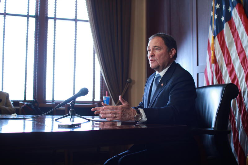 Governor Gary Herbert speaks to the press. (Feb. 5, 2015)