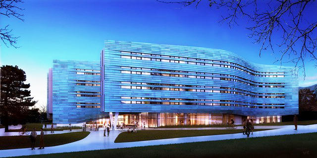 Rendering of Lassonde Studios currently under construction near the David Eccles School of Business.