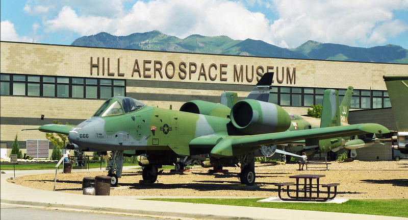 A-10 Thunderbolt on the grounds of the Hill Aerospace Museum