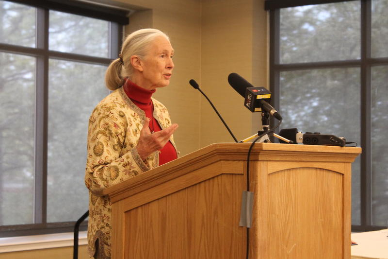 "Jane Goodall speaks in support of Steven Druker's book, ""Altered Genes, Twisted Truth"". (April 24th, 2015)"