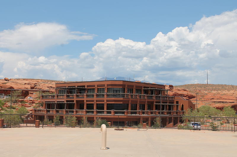 The Washington County Water Conservancy District operates out of a $5 million building with a sweeping view of St. George and the redrock country beyond.