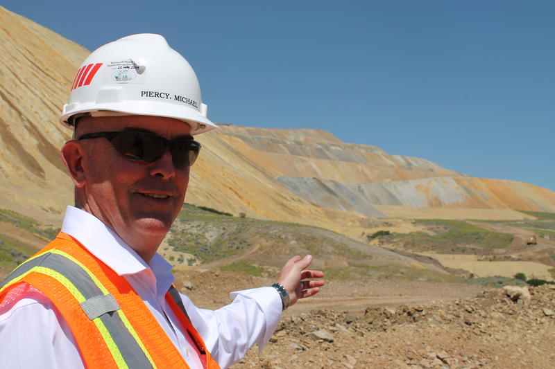 Kennecott Utah Copper General Manager of Construction Michael Piercy describes how waste rock piles on the east side of Bingham Canyon Mine  will be reclaimed.