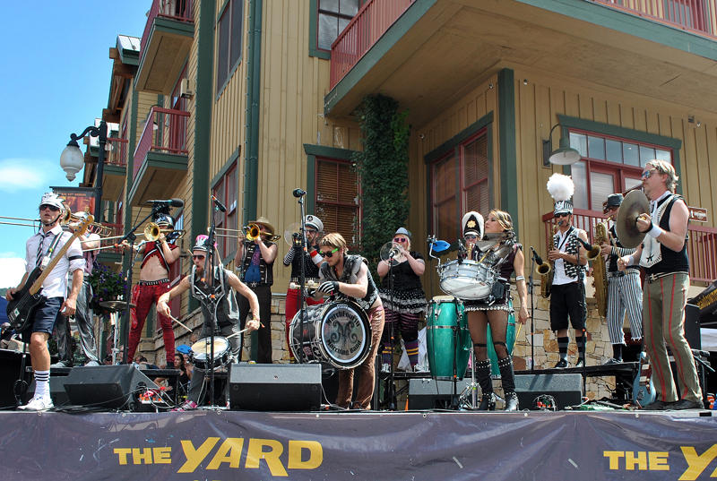 Fun Band on Park City's Main Street for the Annual Park Silly Sunday Market on through September 20th.