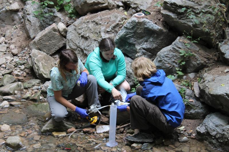 One of the research teams is evaluating where water originates, from snowpack or rain. Information like these can be used for a deeper understanding of all mountain strreams in the West.
