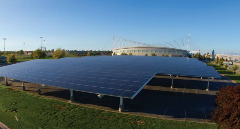 SolarCity has installed several systems in Utah, including this one at the Olympic Oval. The announcement Friday means its footprint's about to get much bigger.