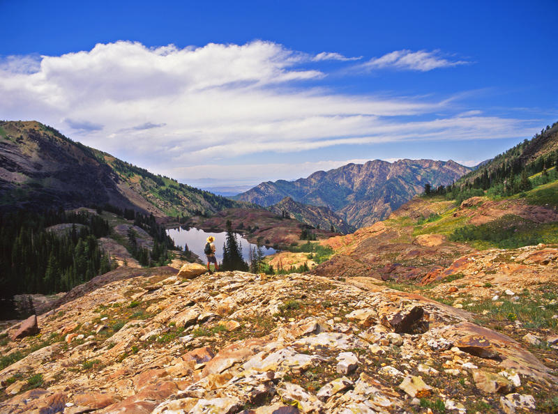 The Mountain Accord is aimed at preserving key values of the mountains that dominate Utah's population center. This is Twin Peaks, a popular site for recreation and part of the valley's water resource.