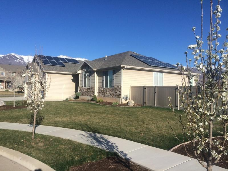 Solar panels on a Kaysville home