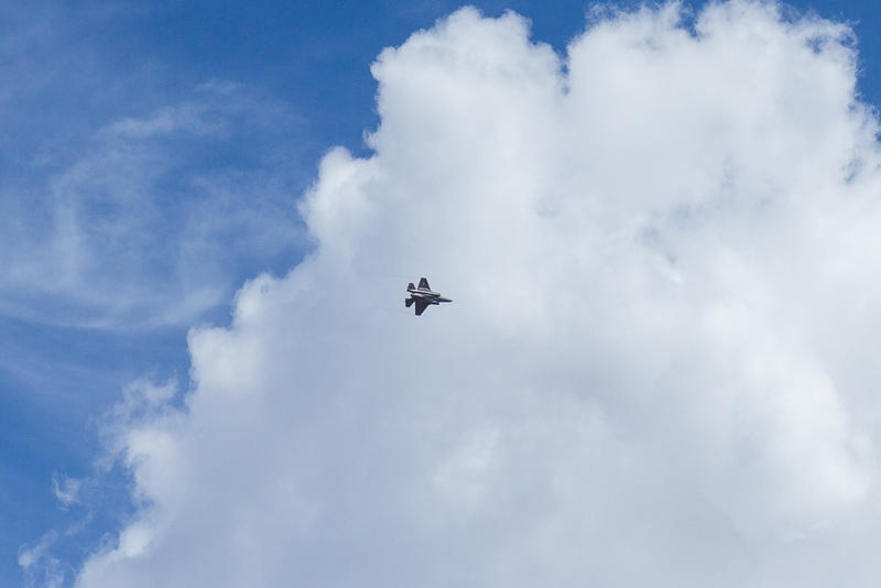 F-35 flys above Hill Air Force Base