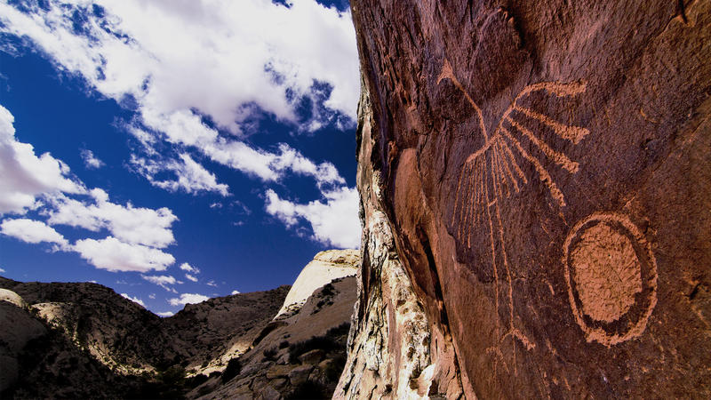 This petroglyph is one of thousands of cultural treasures that would be included in the Bears Ears National Monument proposal by the tribal coalition.