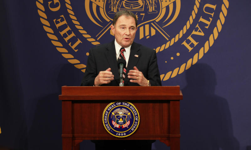 Gary R. Herbert, Governor of Utah, at his monthly KUED News Conference