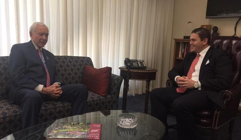 Sen. Orrin Hatch meets with Ambassador of Colombia to the United States Juan Carlon Pinzòn