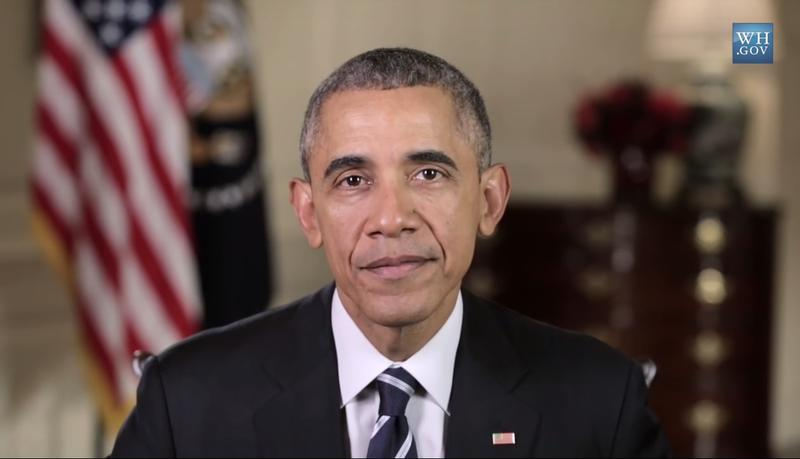 A still shot from President Obama's weekly address where he announces his Healthy Communities Challenge. (Nov. 7, 2015)