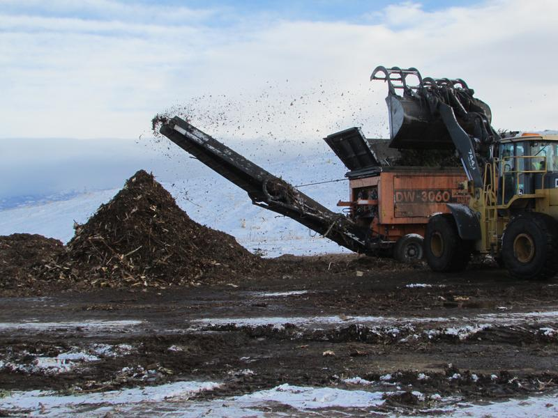 Discarded Christmas trees become fodder for compost at the Salt Lake Valley Landfill each winter.