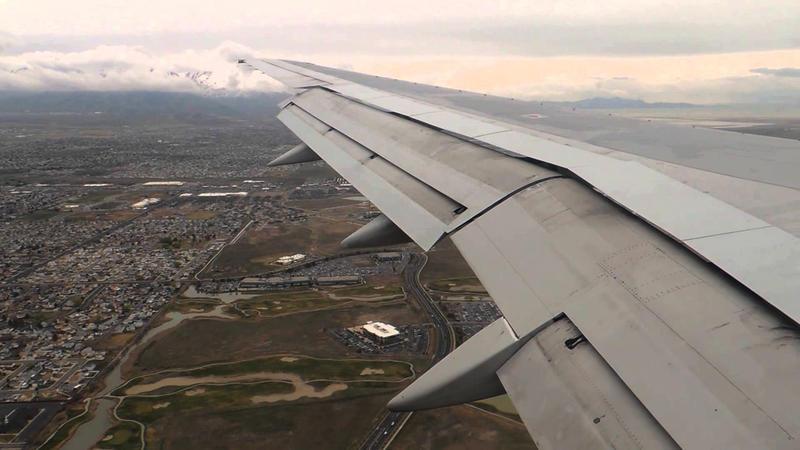 Flying into Salt Lake Valley.