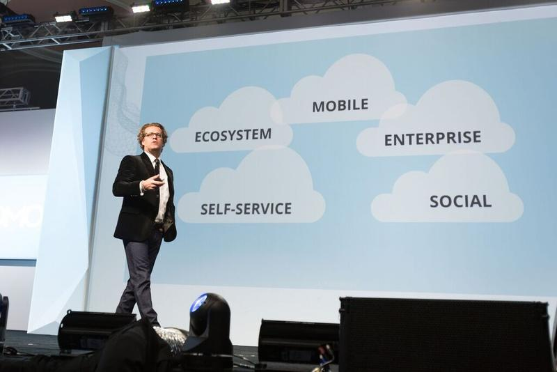 "Josh James, CEO and founder of Domo, explains the ""business cloud"" at Domopalooza."