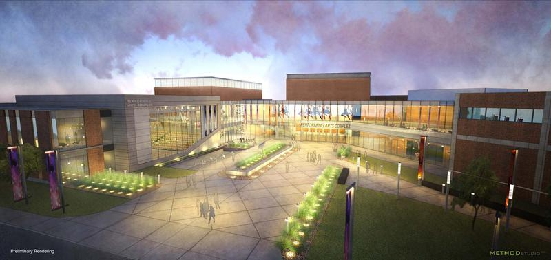 Artist concept of new UVU Performing Arts Center