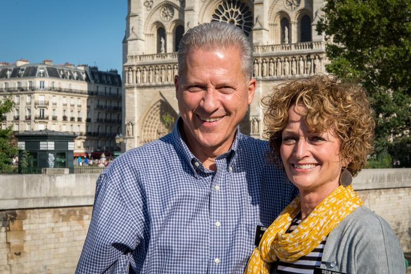 Elder Richard Norby and His Wife, Pam, while serving as Mormon missionaries in Brussels, Belgium.