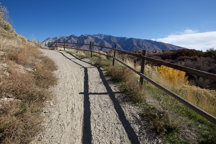 The trail near Wrangler Trailhead at Dimple Dell Park, one of hundreds of sites in Utah where the Land and Water Conservation Fund.
