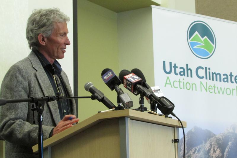 Onno Wieringa, general manager of the Alta Ski Area, at Wednesday's unveiling of the Utah Climate Action Network.
