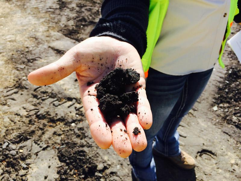 The petroluem product produced at PR Spring is extracted from deposits that look and feel like tar.