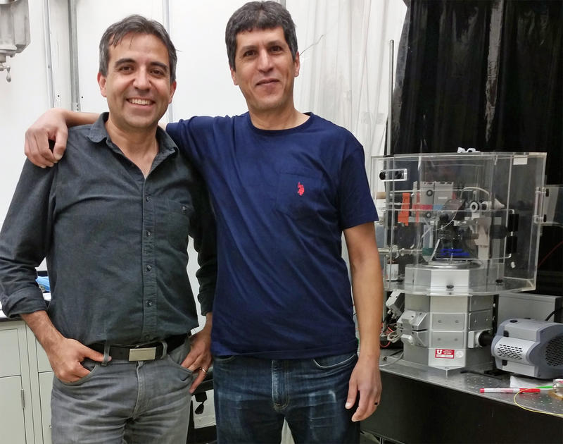 Virologists Saveed Saffarian and Mourad Bendjennat are discovering new tools in monkey-wrenching the machinery of the AIDS virus. They both in the University of Utah's department of physics and astronomy.