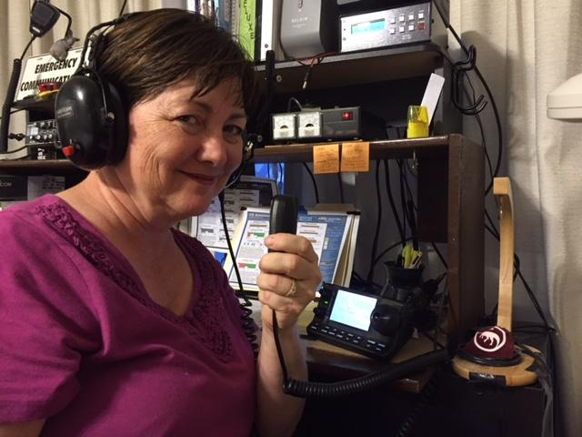 Susan Smith (KJ7ABC), licensed ham radio operator and volunteer for 2016 Great Salt Lake Hamfest