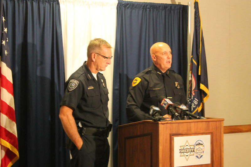 Salt Lake County Sheriff Jim Winder and Salt Lake City Police Chief Mike Brown address reporters on the morning after shootings in Dallas killed five police officers. (July 8th, 2016)