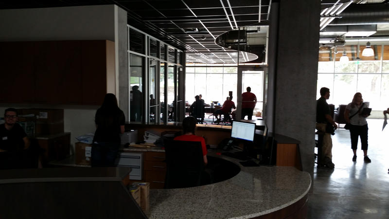 Ground floor area of Lassonde Studios; the largest single space in the building and open to all U students.