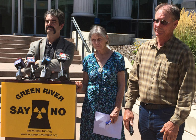 Matt Pacenza of HEAL Utah, Sarah Fields of Uranium Watch and John Weisheit of Living Rivers talk about the reasons for dropping their legal fight against the Blue Castle nuclear power plant proposal planned for Green River.