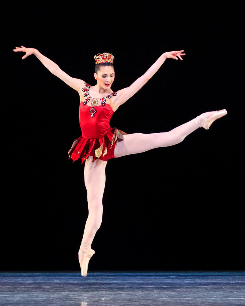 Ballet West Principal Dancer Beckanne Sisk performing Rubies. Choreography © The George Balanchine Trust. Photo by Luke Isley.